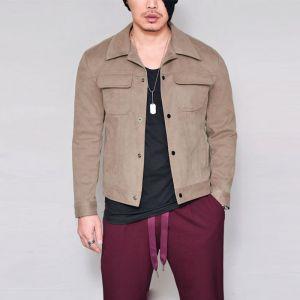 Suede Urban Slim Button Up-Jacket 299