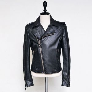 Zipper Sleeve Slim Lambskin Biker-Sale 46