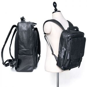 Belted Leather Compact Backpack-Bag 192