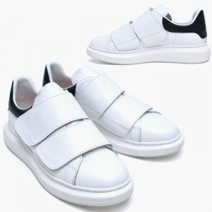 Strap Leather Platform Sneakers-Shoes 620
