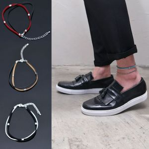 Double Lace Mens Anklet-Anklet 03