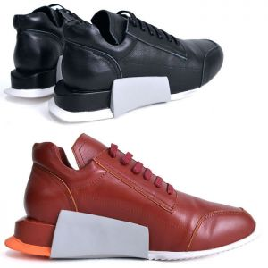 Futuristic Leather Sneakers-Shoes 628