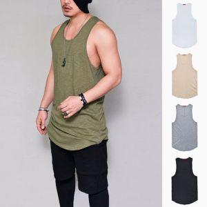 Extra Long Slub Cotton Undershirt-Tank 183
