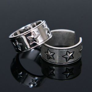 Set of Two Star Open Ring-Ring 80