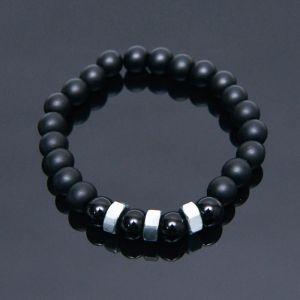 Nut Charm Onix Beads-Bracelet 423