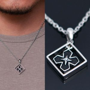 Clover Cubic Short-Necklace 317