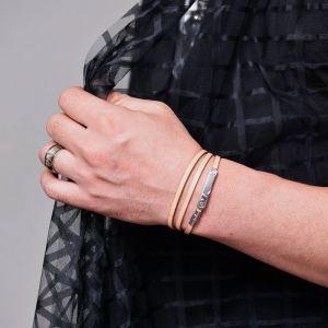 Triple Coil Leather Cuff-Bracelet 431