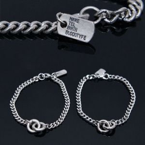 Dogtag Double Ring Chain Cuff-Bracelet 433