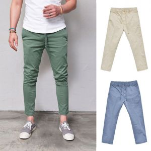 Cropped Ankle Washing Banding-Pants 296