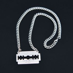 Steel Blade Short Chain-Necklace 320