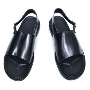 Sleek Leather Buckle Sandal-Shoes 636