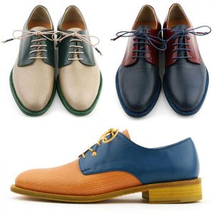 Funky Contrast Upper Kipskin Oxford-Shoes 641