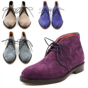 Premium Lambskin Suede Chukka Boots-Shoe 642