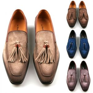 Burnish Lambskin Suede Tassel Loafer-Shoes 643