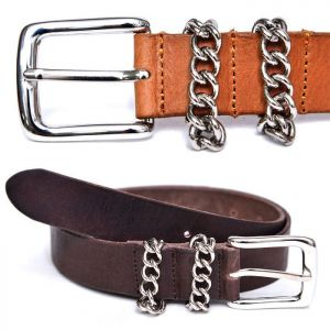 Unisex Chain Loop Cowhide-Belt 170