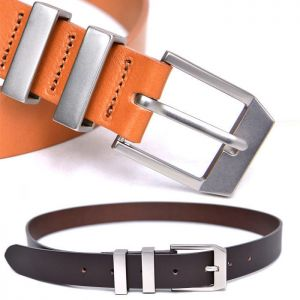 Matt Double Loop Cowhide-Belt 171