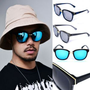 Gold Bridge Mirror Teardrop-Sunglasses 110