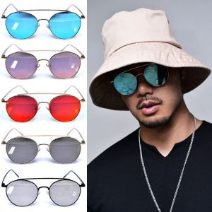 Round Mirror Aviator-Sunglasses 113