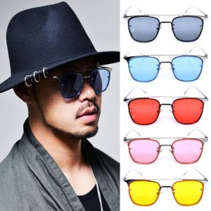 Retro Tint Rectangle-Sunglasses 112