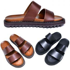 3.5cm Heel Leather Sandal-Shoes 649