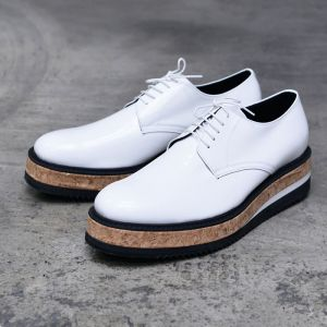 5cm Monster Heel White Creeper-Shoes 653