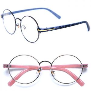Chic Gold Accent Rounded-Glasses 31