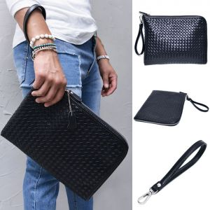 Braided Leather Pouch-Bag 195