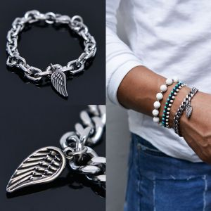 Wing Chain Metal Cuff-Bracelet 441