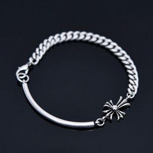Curved Metal Bar Chain Cuff-Bracelet 443
