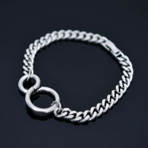 Double Ring Chain Cuff-Bracelet 448