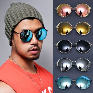 Oversized Round Mirror-Sunglasses 116