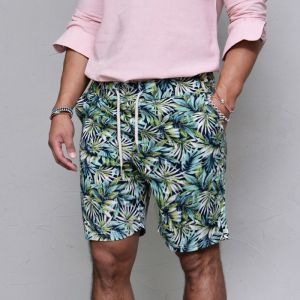 Tropical Palm Tree Banding-Shorts 179