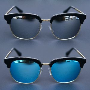 Lux Gold Trim Eyebrow-Sunglasses 118