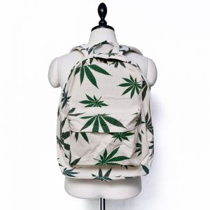 Weed Pattern Canvas Backpack-Bag 198