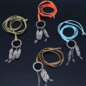 Colorful Long Dream Catcher-Necklace 330