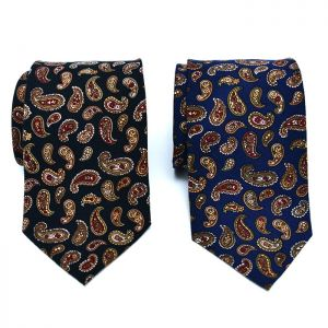 Retro Paisely Wool Tie-Tie 54