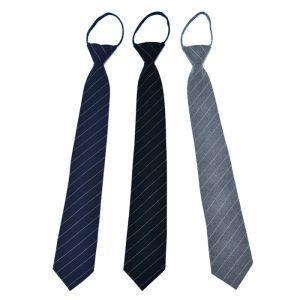 Pre-Knotted Clip-on Wool Stripes-Tie 56