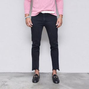 Black Hall Slim Ankle Cut-Jeans 394