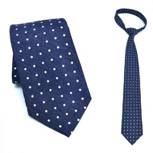 Retro White Dot Wool-Tie 60