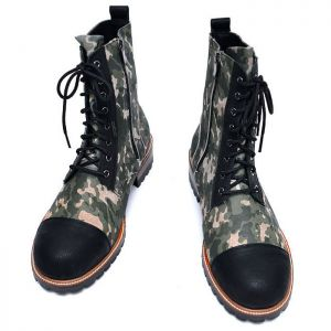 Black Toe Camouflage Combat Boots-Shoes 660
