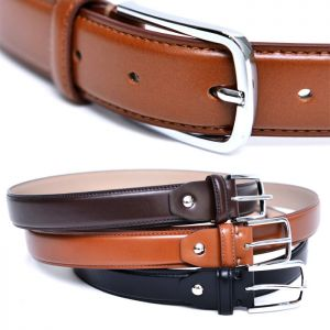 Sleek Modern Dress Leather-Belt 178