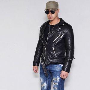 Vegetable Lambskin Belted Biker-Leather 135