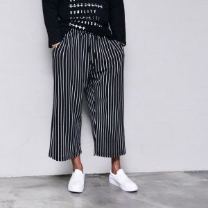 Stripe Wide Span Baggy-Pants 357