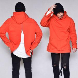 Back Zipper Loose Pullover-Hoodie 270