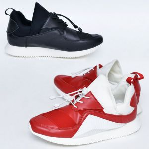 Futuristic Sporty Leather Sneakers-Shoes 672