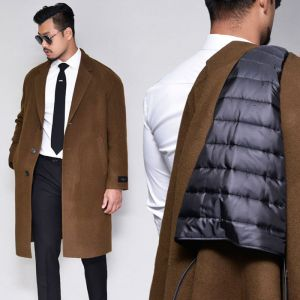 Handmade Down Lined Wool-Coat 143