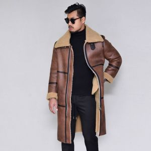 Long Buckled Full Shearling-Leather 142