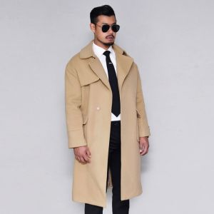 Loose Fit Gun Flap Long Wool-Coat 145