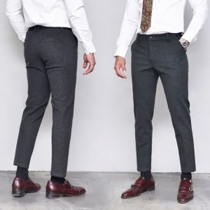 Thick Wool Span Banding Slacks-Pants 364