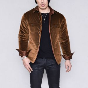 Corduroy Wellon Padding-Shirt 228